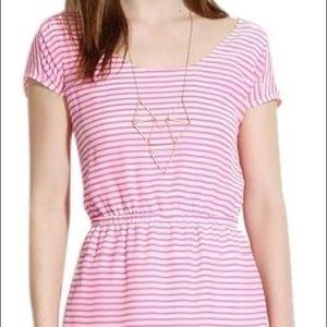 Striped pink Madewell sun dress